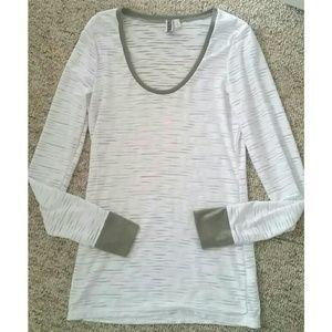 Sparkly white zebra design long sleeve top
